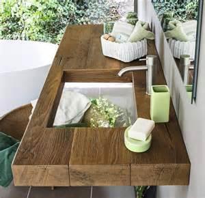 badezimmer waschbecken badezimmer holz waschtisch glas waschbecken illusionen tiefe leere waschtische