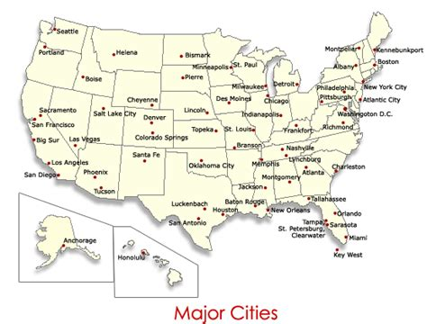 usa map major cities  travel information