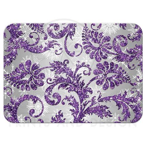 winter wonderland wedding rsvp card 2 purple silver