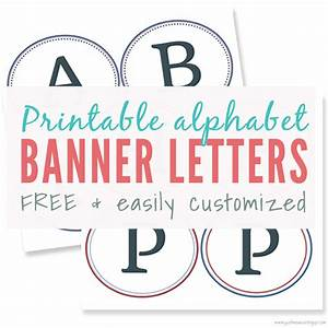 free printable banner letters for making a diy sign With banner letters