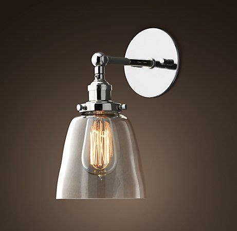 simple elegant glass sconce gelighting bathroom sconce lighting restoration hardware