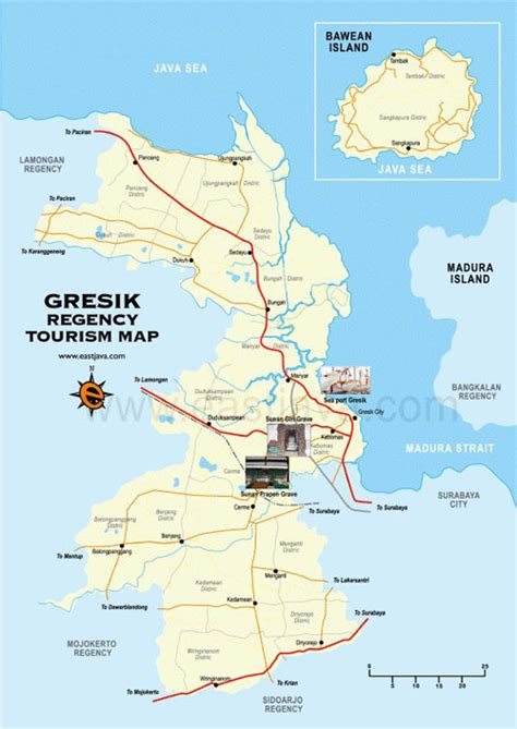 gresik map peta gresik