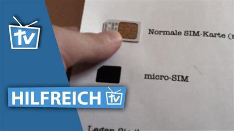 wie kann ich micro sim karte selber machen micro sim