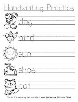 pleasant free blank handwriting worksheets for grade