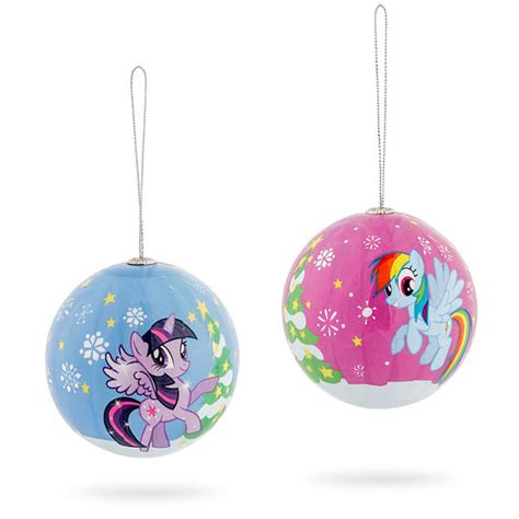 my little pony holiday ornament set