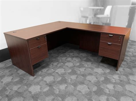 mahagony  shape desk orlando desks  office