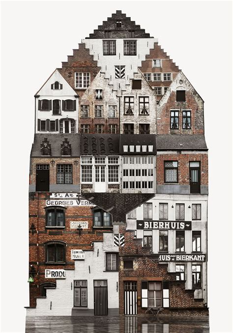 Anastasia Savinova's Architecture Collages Illustrate The
