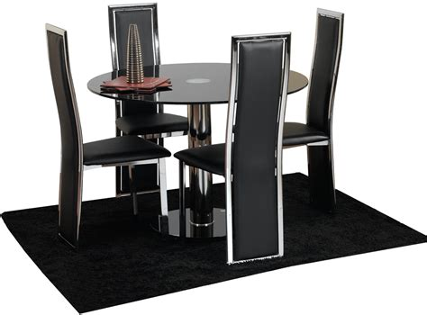 modern black dining table and chairs furniture cool small modern dining room decoration using