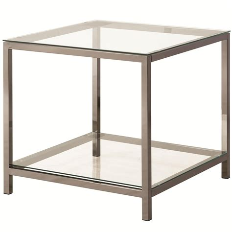 black glass end table coaster 720227 black glass end table steal a sofa