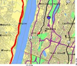 Yonkers NY Zip Code Map