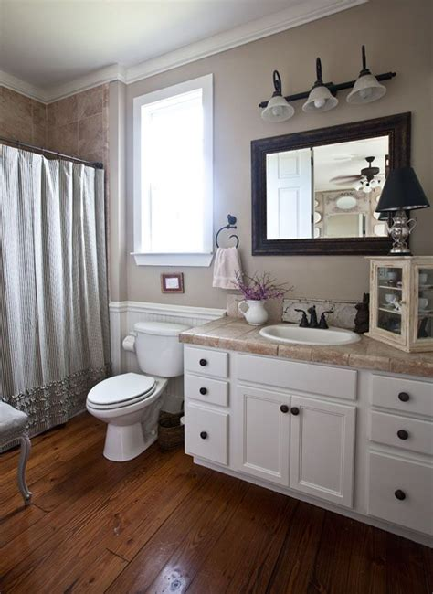 French Country Kitchen Curtains Pinterest by 20 Cozy And Beautiful Farmhouse Bathroom Ideas Home
