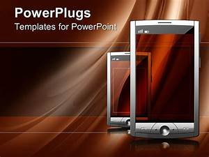 powerpoint template two touch screen of mobile devices With t mobile powerpoint template