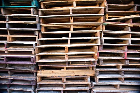 Stack Of Wooden Pallets Free Stock Photo  Public Domain