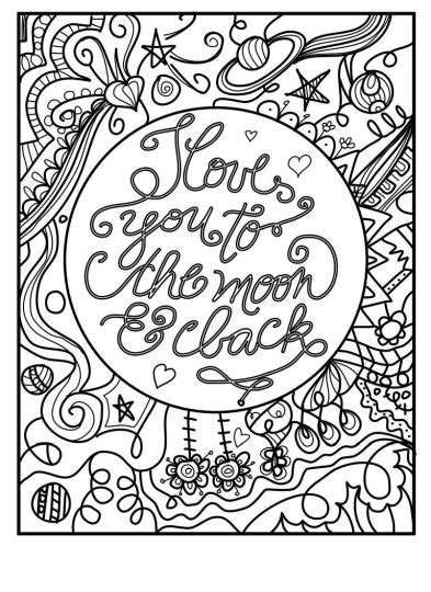 I You To The Moon And Back Kleurplaat by I You To The Moon And Back Coloring Pages Part 2
