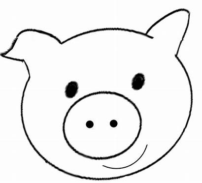 Pig Face Printable Template Clip Clipart Mask