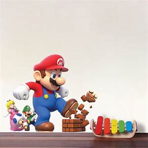 super mario wall stickers peenmediacom With mario wall decals