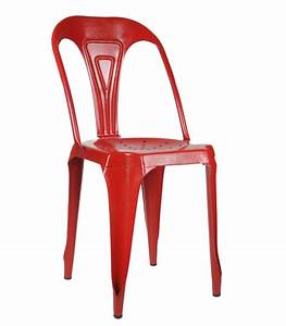 Chaise Style Industriel : chaise style industriel en m tal vintage rouge ~ Teatrodelosmanantiales.com Idées de Décoration