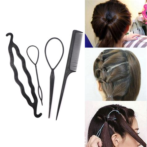 pcs ponytail creator plastic diy hair styling tools black