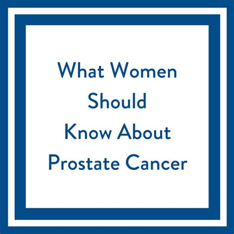 women    prostate cancer