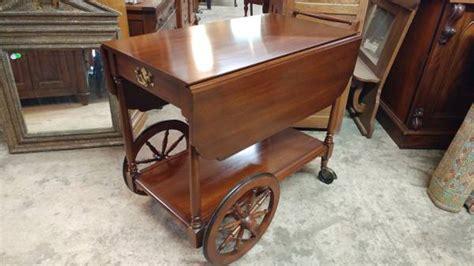 henkel harris tea cart solid black cherry excellent condition wow long valley traders