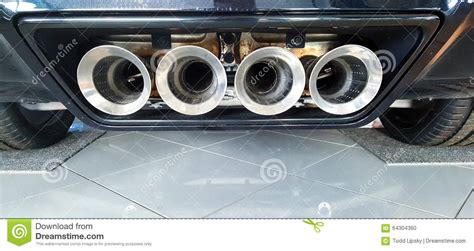 exhaust  sports car stock photo image