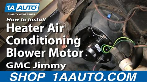 install heater air conditioning blower motor chevy