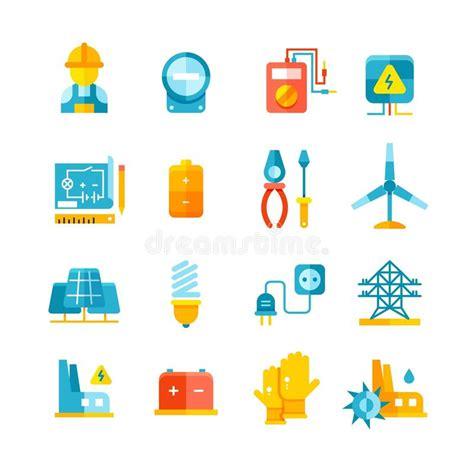 Energía Eléctrica Líneas Eléctricas Concepto Del Vector