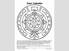 Aztec Calendar Reference and Pattern Page … Teaching