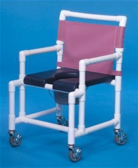deluxe open front soft seat midsize shower chair commode