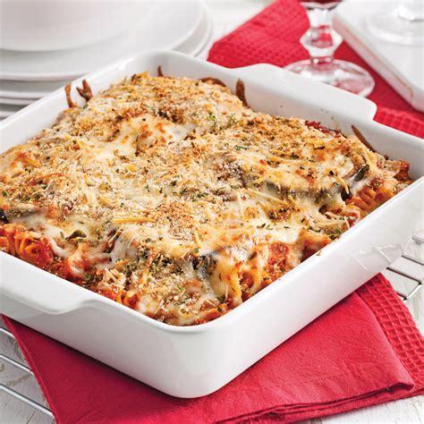 recette cuisine aubergine gratin de pâtes et aubergine parmigiana recettes