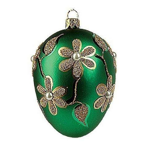 faberge inspired polish glass christmas ornament egg home