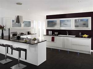 Cool Black And White Kitchen Ideas With Black Furniture