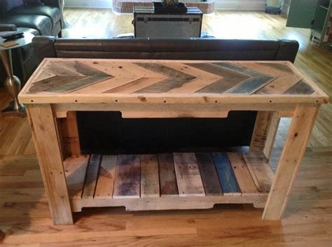 wood pallet reclaimed sofa table  pallets