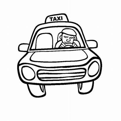 Taxi Transportation Coloring Coloriage Coloriages Transport Album