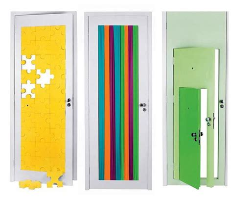 interior doors adding surprising accents to modern