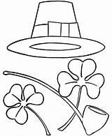 Coloring Patrick Pages St Sombrero Printable Patricks Shamrocks Hat Sheets Irish Shamrock Saint Clipart Holiday Cliparts Patty Pipe Mexican Clip sketch template