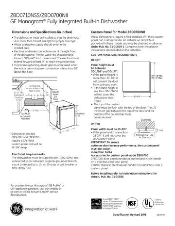 ge monogram dishwasher zbdnii user manual manualzz