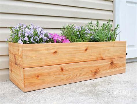 diy modern cedar planter outdoor living diy wood