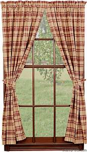 Raspberry Tieback Curtain Panels