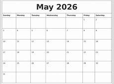 May 2026 Calendar
