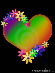 Neon clipart colorful heart Pencil and in color neon