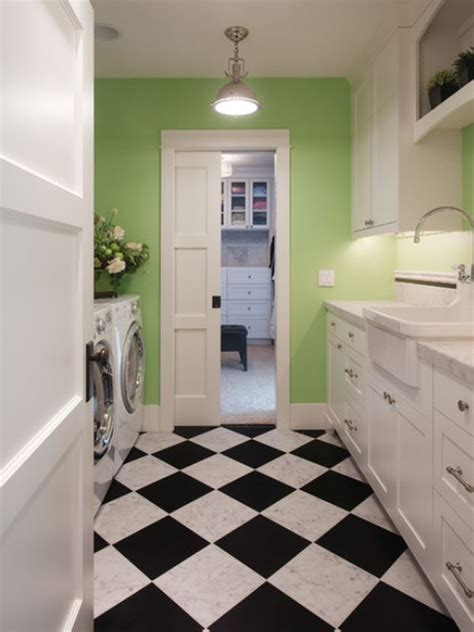 checkerboard flooring timeless for any room of the house