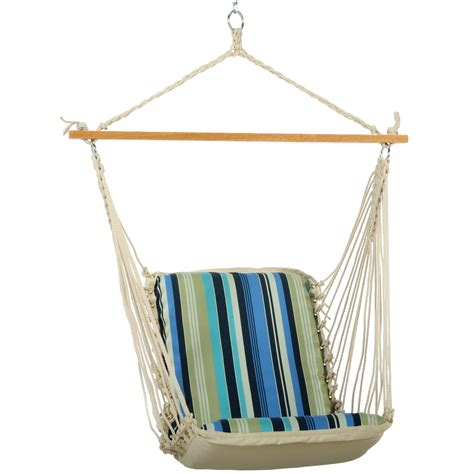 pawleys island beaches stripe cushioned single hammock