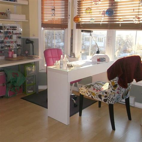 Decorating Ideas Salon Station home nail salon decorating ideas nail technician room