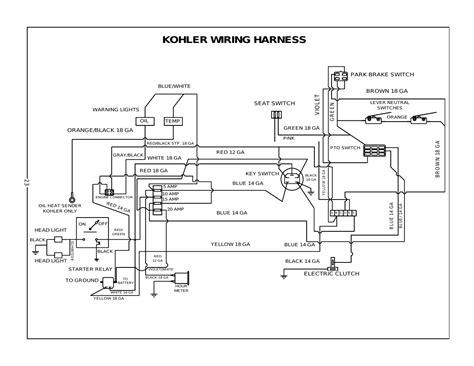 kohler wiring harness bush hog  turn mowers user manual page