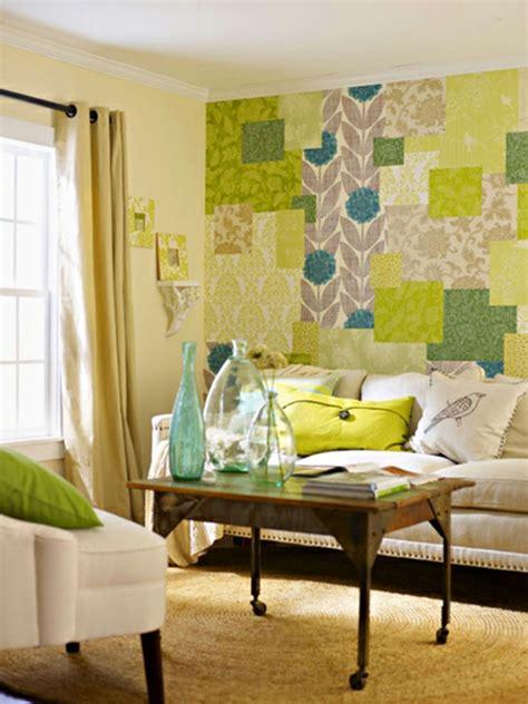 Frische Wanddekoration Mit Pflanzenblumentopf Fuer Wanddekoration by Wanddekoration In Patchwork Stil In Der Wohnung