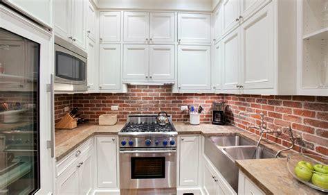 backsplash in white kitchen brick backsplash in the kitchen presented with