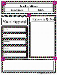 10 awesome classroom newsletter templates designs for Free monthly newsletter templates for teachers