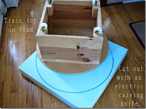 how to build an ottoman how to build how to build a round footstool pdf plans