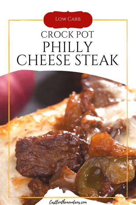 Remove lid, sprinkle with cheese and replace lid for a few minutes until it melts. Easy Melt in your Mouth Crock Pot Philly Cheese Steak- 3 NC